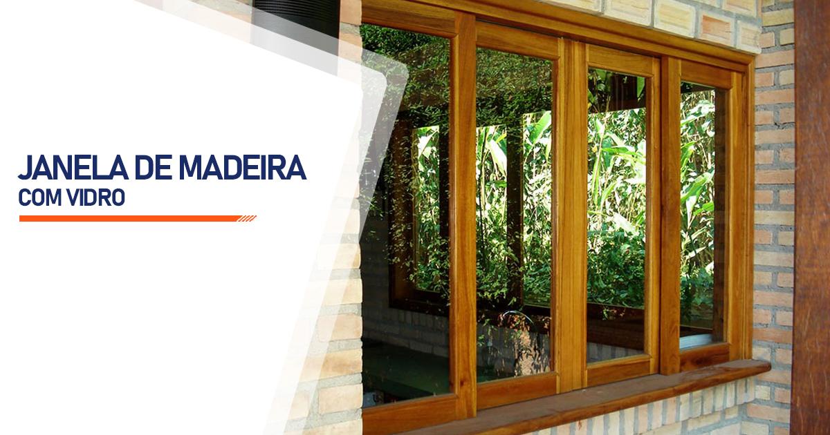 Janela De Madeira Com Vidro Cascavel