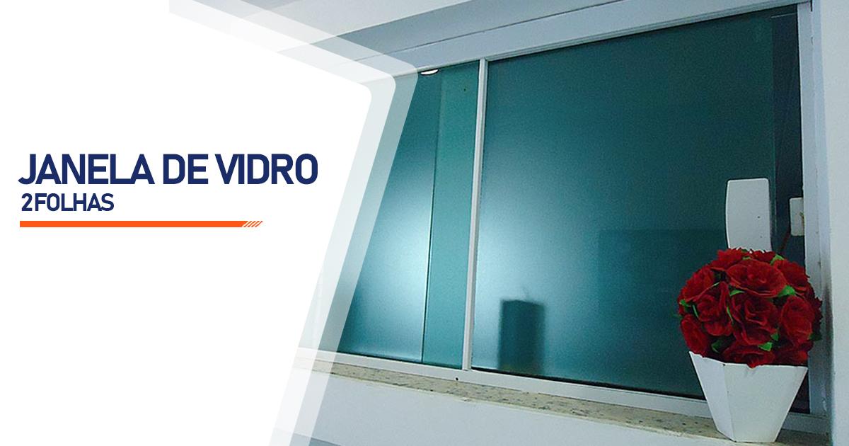 Janela De Vidro 2 Folhas Cascavel